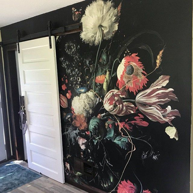 Dark Floral Peel And Stick Wallpaper Dutch Flowers Oil Painting Wall Mural Still Life Flowers Wall Art Dark Flowers Dark Wall Mural In 2020 Vintage Floral Wallpapers Painting Wallpaper Floral Wallpaper