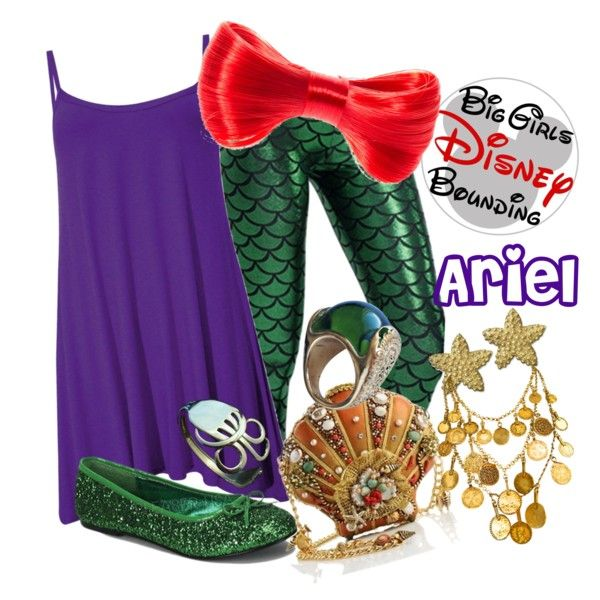 Plus Size Ariel The Little Mermaid Disney by bgdisneybound on Polyvore featuring polyvore, fashion, style, Funtasma, Yves Saint Laurent and Etro