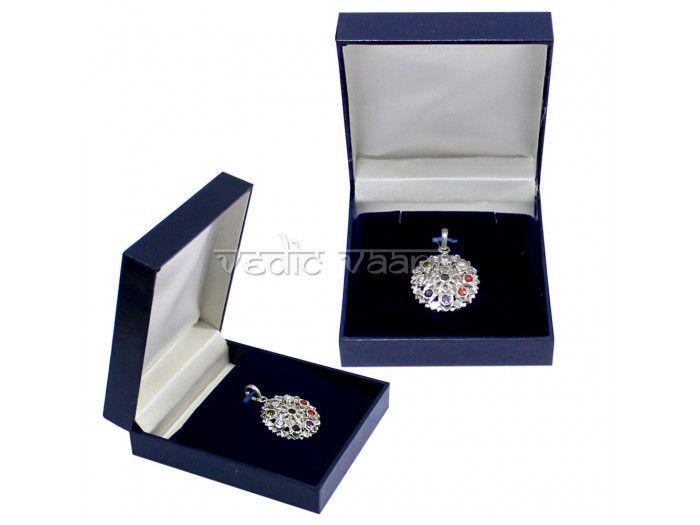 Shop Navratna Locket .Buy Authentic Nine Planetary Rashi Gemstones Locket Online .