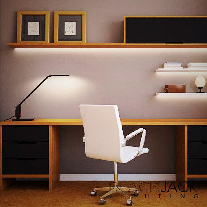 The revolutionary Edge2 #led #tasklamp unique design has no bulky counterweight, so it can sit right on the edge of the desk. #blackjacklighting #stephenblackman https://www.pinterest.com/loftmodern/blackjack-lighting/