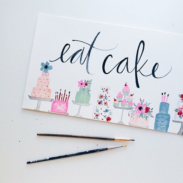 delicately painted cakes
