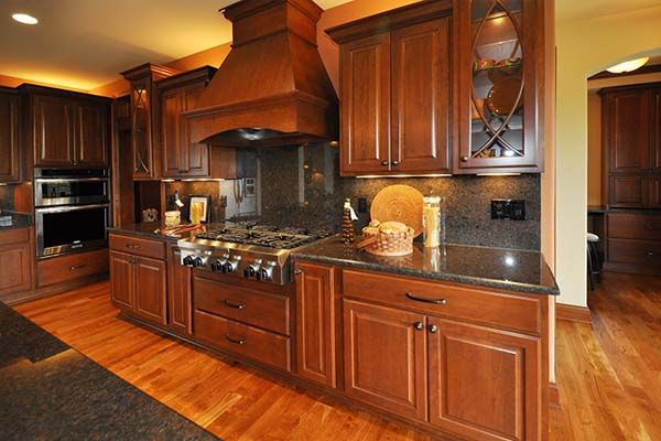 Ashland - Victory Homes of Wisconsin, Inc. Gourmet stove, Lots of cabinets & plenty of counter space in kitchen