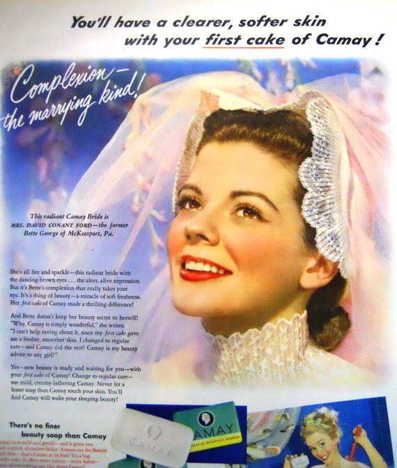 Retro Pin Up  Bride Camay Soap Magazine by mamiezvintage on Etsy, $8.95