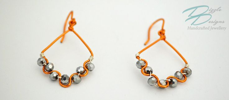 ON SALE! - Hand Wire Wrapped Bollywood Inspired Copper & Silver Earrings by DizzleDesigns on Etsy