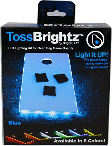 Brightz, Ltd. White Toss Brightz LED Lights Cornhole Board Accessory