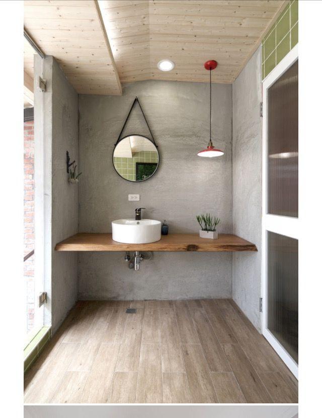 miroir et plan de travail diy home decor pinterest ba os ba o y lavabos r sticos. Black Bedroom Furniture Sets. Home Design Ideas