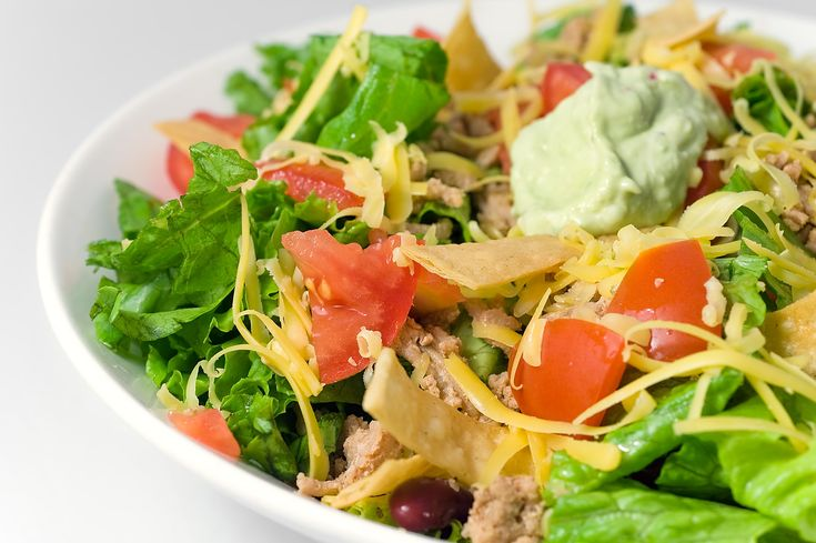 Recipe for Taco Salad with Spicy Avocado Dressing at Life's Ambrosia
