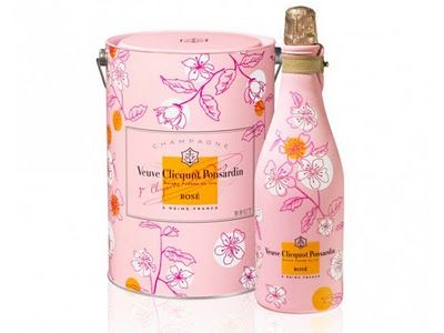 Veuve Clicquot Rose. Lovely carrying cases come with them.