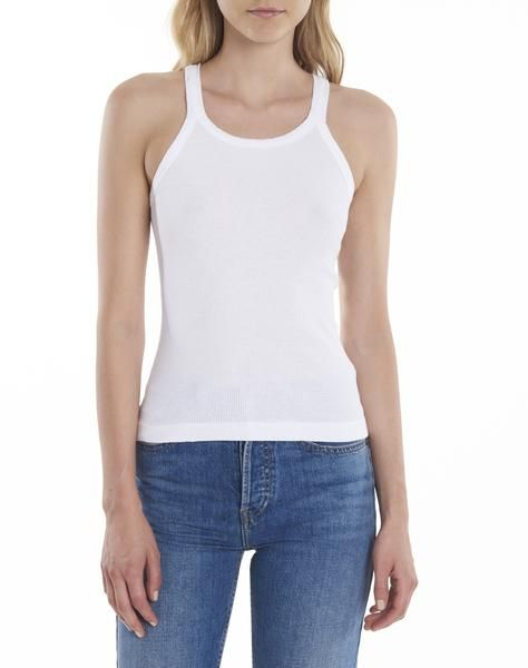 7b682138d7de3 The RE DONE Ribbed Tank is a modern take on the classic sleeveless men s  undershirt