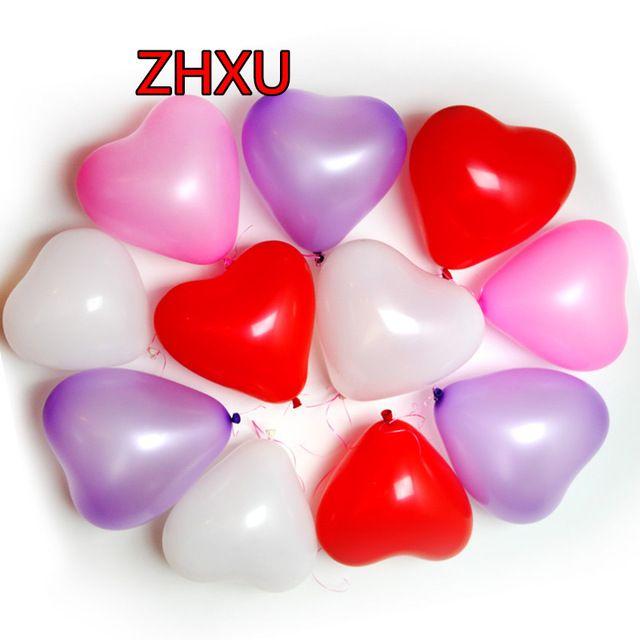 Envío libre 10pcs10 pulgadas globo de aire de látex corazón bolas inflables globos cumpleaños de la boda decoración del partido juguetes flotantes