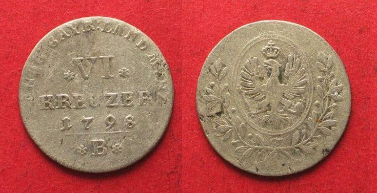 1798 Brandenburg-Anbach-Bayreuth BRANDENBURG-ANSBACH-BAYREUTH 6 Kreuzer 1798 B FRIEDR. WILHELM III billon # 93748 VF-