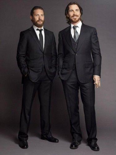 Tom Hardy and Christian Bale/// Con mi fijacon de hombres con barba... No podrían ser más perfectos!!