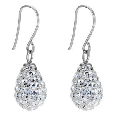 9ct White Gold Egg Drop Earrings- H. Samuel the Jeweller