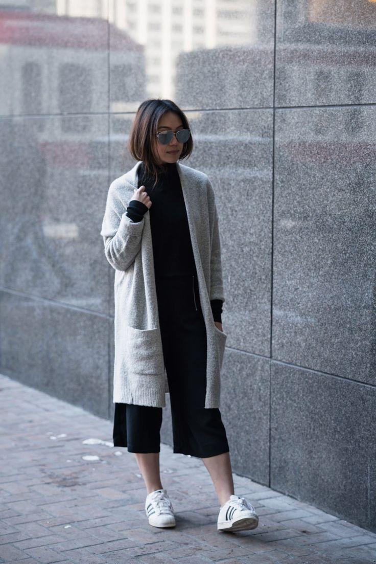 Minimal Street Style #culottes #streetstyle #minimal