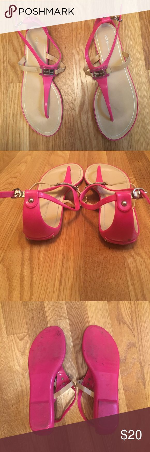 Women's jelly sandals size 10 - Bcbgeneration Pink Jelly Sandals Size 10 Gently Used Worn Maybe Twice Bcbgeneration Sandals