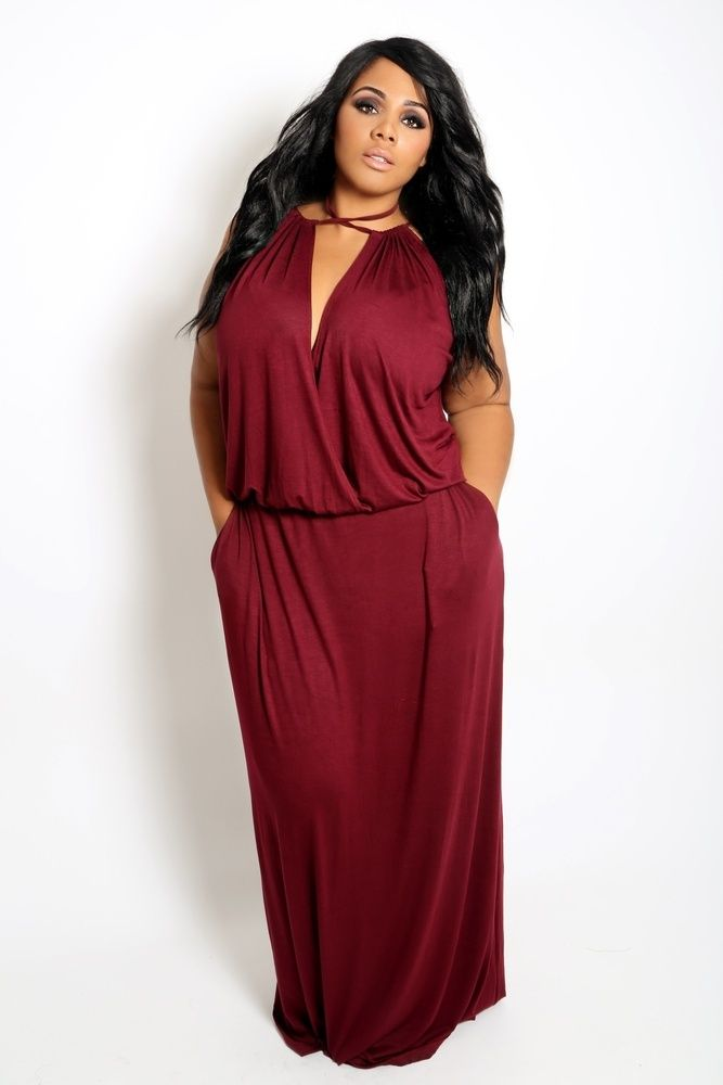 Pocketed Maxi Dress , $46.99 by Thick Chic Boutique~~~~~ love this dress