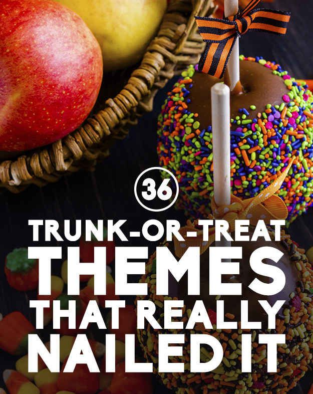 36 Trunk-Or-Treat Themes That Really Nailed It #halloween #trunk #or #treat