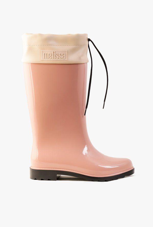 Melissa Rain Boot - Pink/Black on