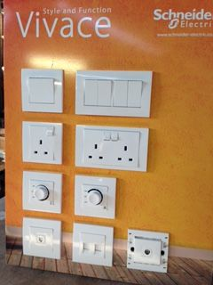 Display Board for light switches and sockets