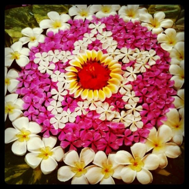Balinese flower art - what a great way to start a morning. Bali, Indonesia by uncorneredmarket, via Flickr