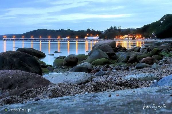 Nastrojowo - więc Orłowo / Orłowo ambiance | fot. Robs | #gdynia  #orlowo  #sea   #morze #wieczorne #molo #pier