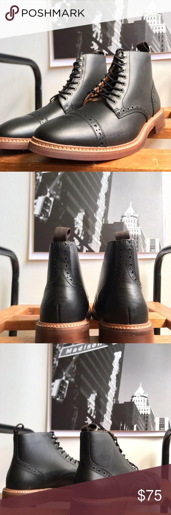 🙌🏾Brand New Aldo Boots #0196AO Brand new Aldo black genuine leather lace up oxford style boot. Notice the detail around the toe area and sides. Pull tab on the back of boot to assist with putting on boots. NO TRADES. NO LOWBALL OFFERS, Thank you! #boot #aldo #men #mensstyle #style #streetwear #boot #size7.5 #size37.5 #oxford #fallfashion #winterfashion #winter #fall #blackboot #black #aldoboot Aldo Shoes Boots