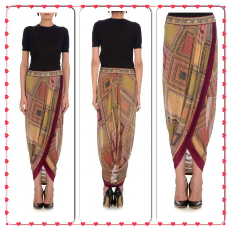 Scraf board dhoti skirt