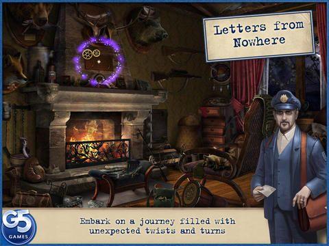 Letters from Nowhere er bare en af mange apps, der er gratis. Man skal løse et mysterium og hjælpe med at finde nogle ting i forskellige værelser. Man får point og mister point ved nogle af de ting man peger forkert på. Der er også The island: Lost World HD og mange flere.