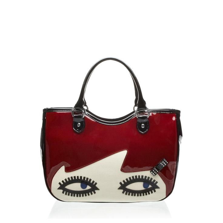 lulu guinness black cherry doll face wanda bag