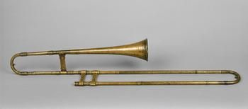 Tenor Trombone, 1557  Well actually, I would call this a sackbut--notice how narrow the bell is.