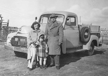 Colin Greener had many friends and neighbours around Battleford, Saskatchewan. He was a kind and loving godfather, and especially close to my mother June Light Florence, who acted as a daughter when Colin reached his old age. Here's a photo of the three of us in about 1954, with Colin's immaculately-maintained and polished truck.