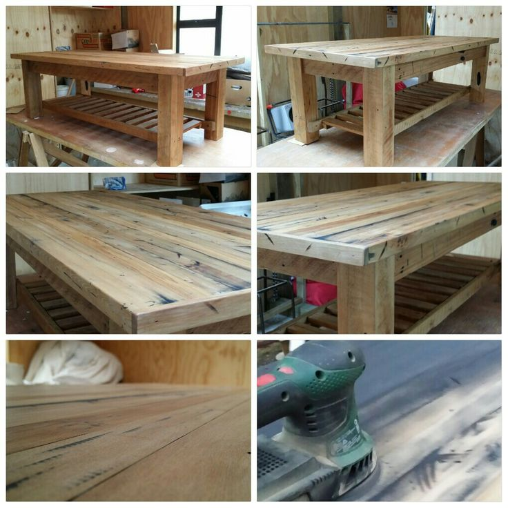 Recycled Rustic rimu coffee table. Read the comments for how I did it