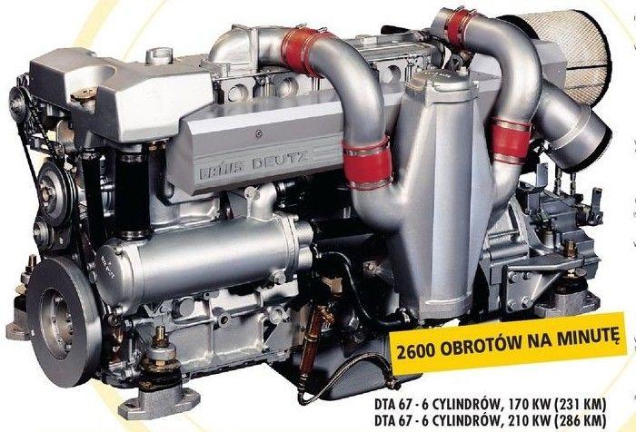 Silnik Morski Diesla Chłodzony olejem DT67 Vetus
