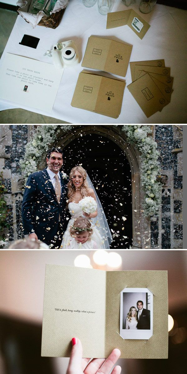 For the thank you cards enclose photos of each guest together with a photo of the bride and the groom so the guests will always have a picture from the wedding