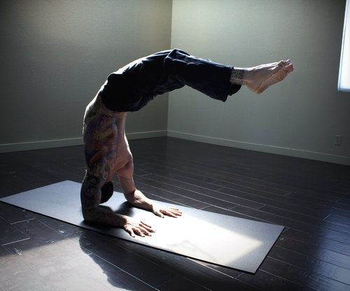 Tattoos, Muscles and Yoga Poses.