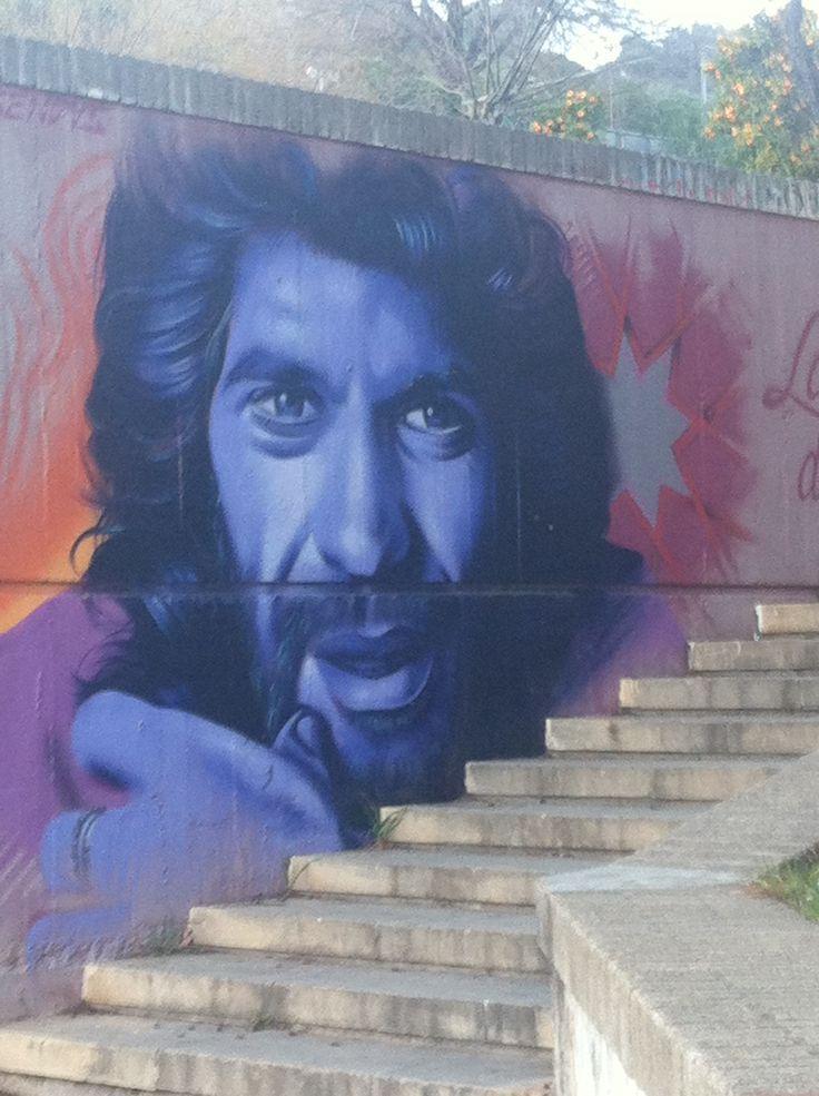 Street Art in Barcelona. Camaron de la Isla