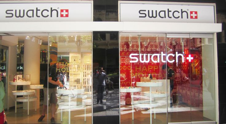 Swatch Brisbane - Stage 01 Christmas trading installation.