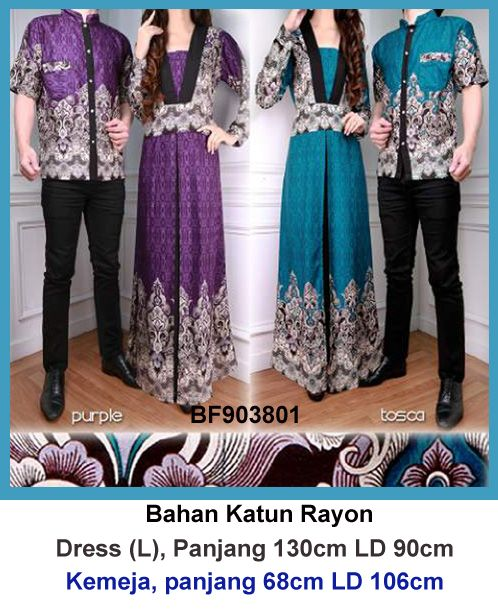 Gamis couple batik 801