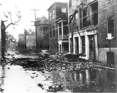 Anson Street after Hurricane Donna in 1960 Historic Charleston Foundation