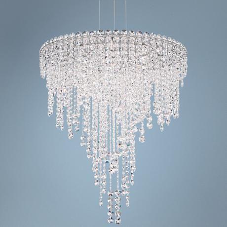 "Schonbek Chantant 24"" Wide Small Crystal Pendant Light"