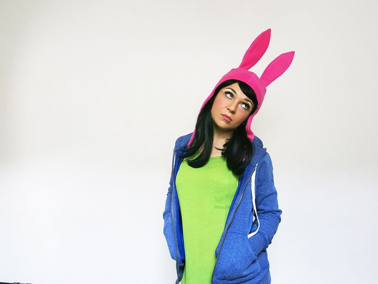 "Feisty Cuffs as Louise Belcher from Bob's Burgers.  Louise is my favourite character from the show. This is from the episode ""Ear-sy Rider"" when her hat get's stolen. This pose got requested A LOT. So, here you go! Check out more of cosplays at www.facebook.com/feistycuffs Picture by Feisty Cuffs"