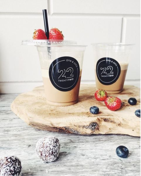 Een heerlijk ICE Coffee ! Ook dat kan bij Twenty Two Gym & Juice!