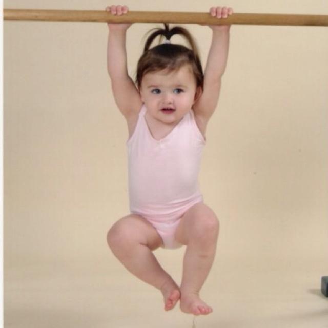 My baby gymnast future gymnastics star!!