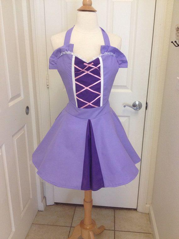 Rapunzel adult apron dress