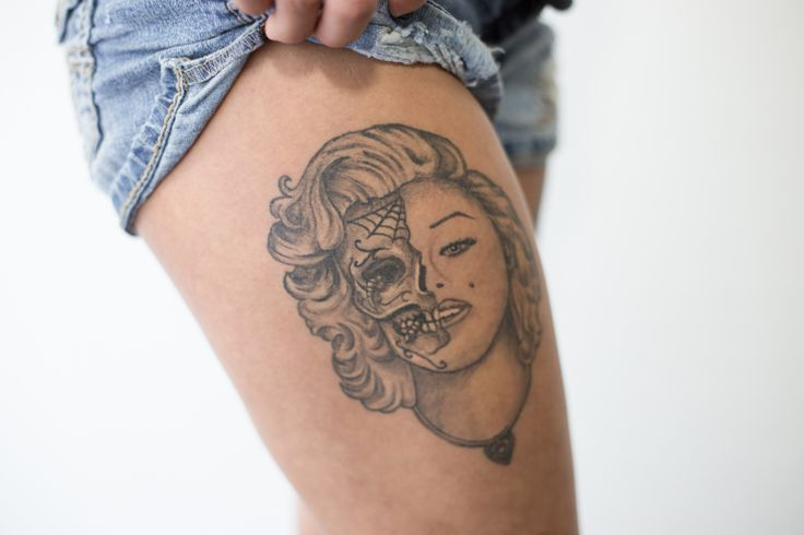 1000 images about tattoo ideas on pinterest fonts for Marilyn monroe skull tattoos