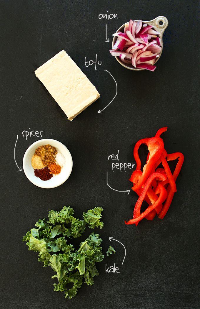 EASY Tofu Scramble with smoky Southwest flavors! #vegan #glutenfree