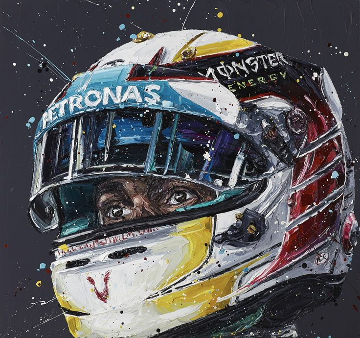 Paul Oz is the buzz word in Formula One art; widely acclaimed for his explosive and energetic artworks and well-respected for his genuine passion for the sport.  We are proud to present to you this limited edition, hand embellished Paul Oz print, which portrays 2-time World Champion Lewis Hamilton in his Mercedes colours.  Available as part of a strictly limited edition of just 100 hand embellished box canvas prints. Paul personally embellishes each museum-quality print with a pallette k...