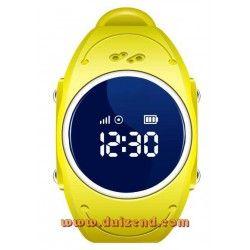 Waterdicht Gps horloge Geel Gps en Wifi + configuratie + incl Lebara Simkaart + gratis verzending !