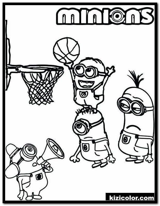 Printable Basketball Coloring Page Dÿz Nba Basketball Coloring Pages 1 Kizi Free 2020 In 2020 Sports Coloring Pages Minion Coloring Pages Detailed Coloring Pages