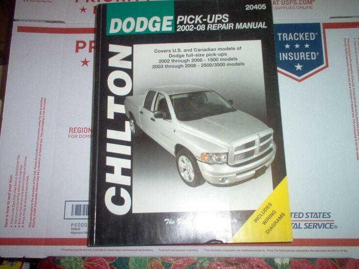 Advertisement Ebay  Chilton Repair Manual 2002